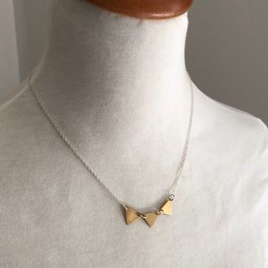 Two toned geometric necklace